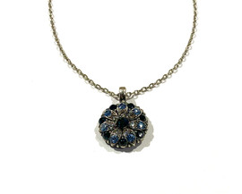 Blue Crystal Guardian Angel Necklace