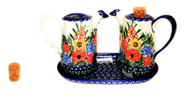 Polish Pottery Oil Set