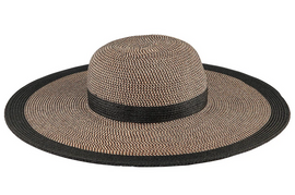 Water Repellant Striped Floppy Hat