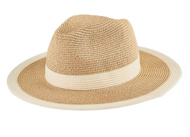 Water Repellent Striped Fedora