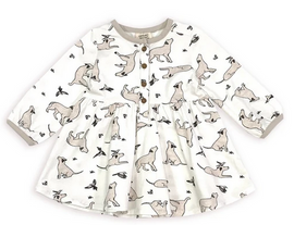 Dog and Hummingbird Flare Dress and Bloomers