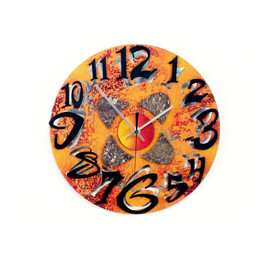 """12""""h x 12""""W     Runs on one AA battery     Signed by artist, David Scherer     Hand made in Madison Heights, Michigan"""