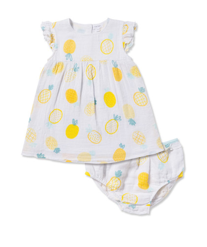 Pineapple Dress & Diaper Cover