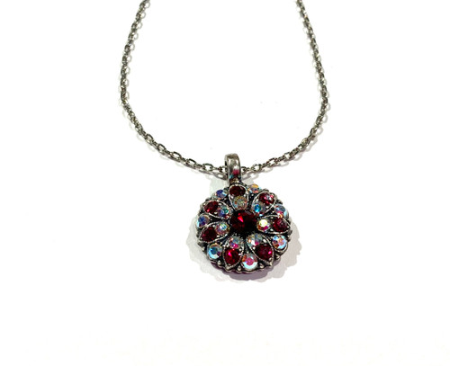 Red Crystal Guardian Angel Necklace