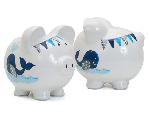Blue Whale Piggy Bank