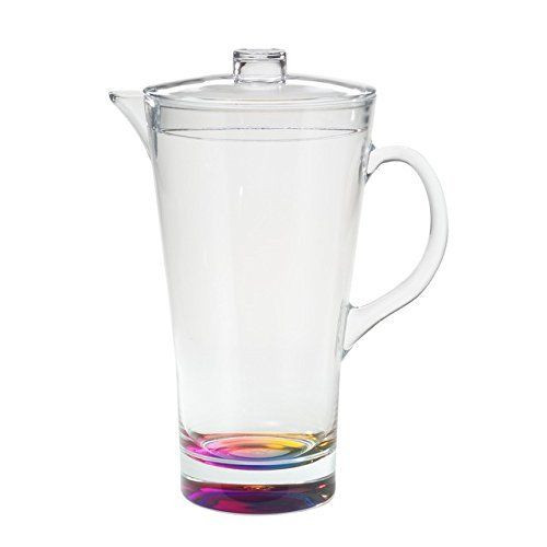 Acrylic Rainbow Reflections 2-QT. Pitcher with Lid
