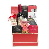 Foodie Red Wine Gift Basket
