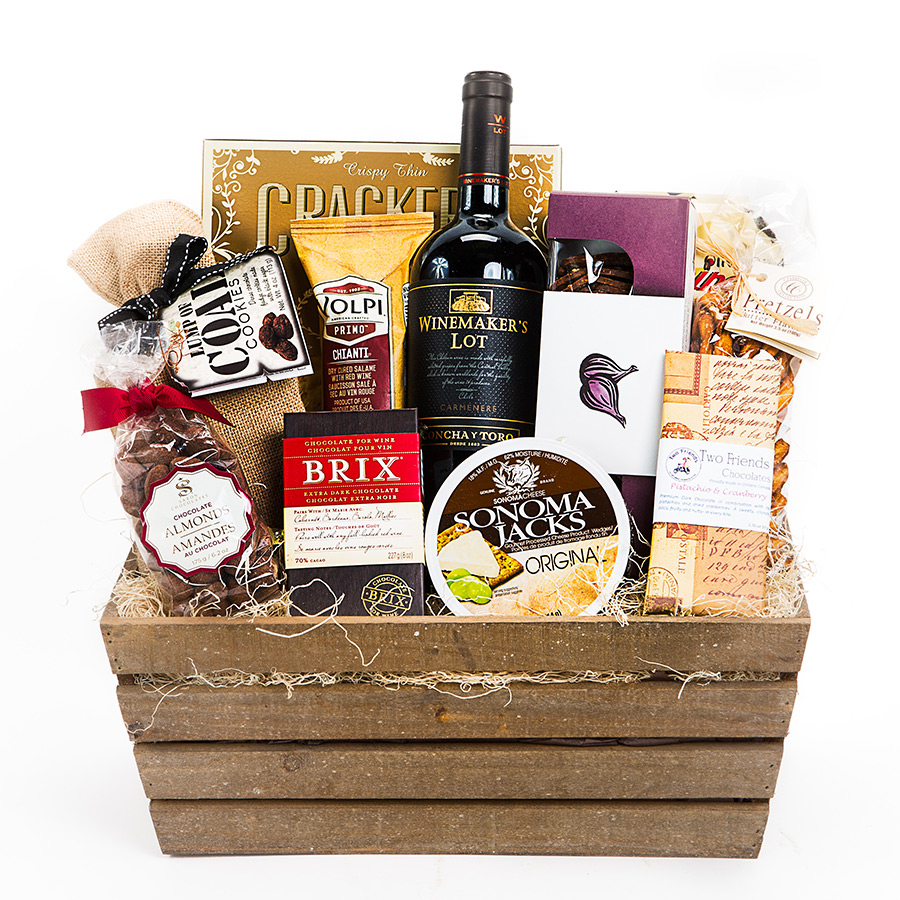 Red Wine Gift Basket Delivery