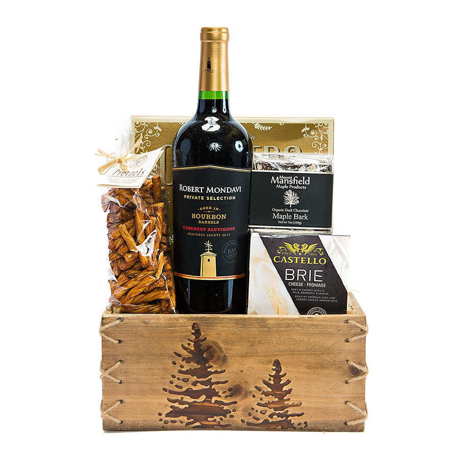 Winter Red Wine Gift Basket