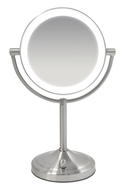Double Sided Illuminated LED Mirror - Product image of the Double Sided Illuminated LED Mirror - Magnified Makeup Beauty Mirror with Lights - HoMedics UK