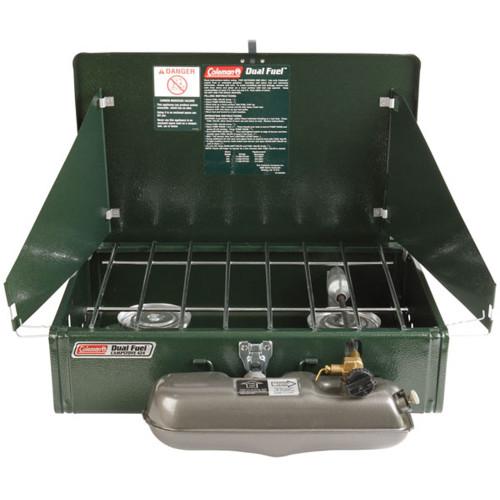 3000003648 - Coleman 2 Burner Dual Fuel Stove