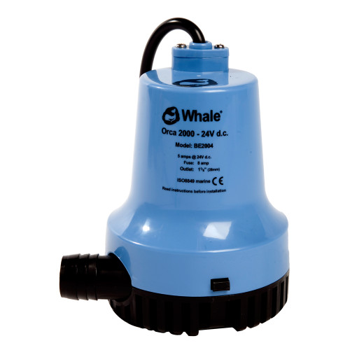 BE2002 - Whale Orca 2000 GPH Submersible Bilge Pump 12V