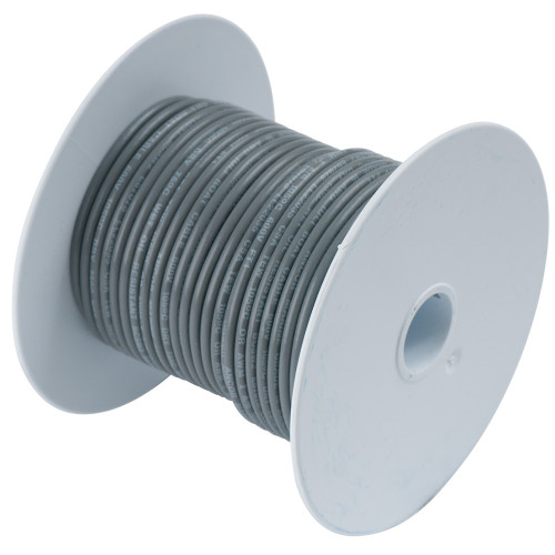 104410 - Ancor Grey 14 AWG Tinned Copper Wire - 100'