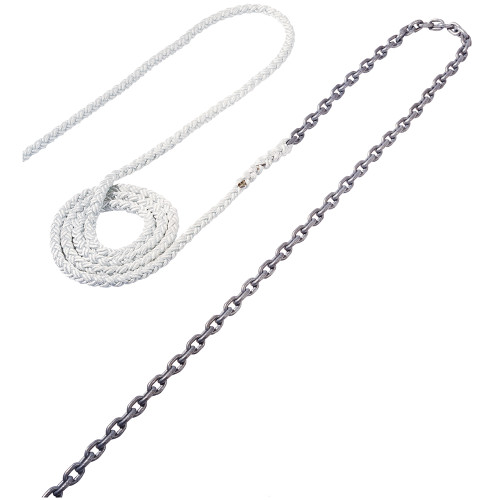 """RODE53 - Maxwell Anchor Rode - 18'-5/16"""" Chain to 200'-5/18"""" Nylon Brait"""