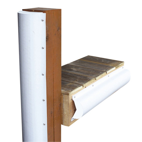 1020-F - Dock Edge Piling Bumper - One End Capped - 6' - White