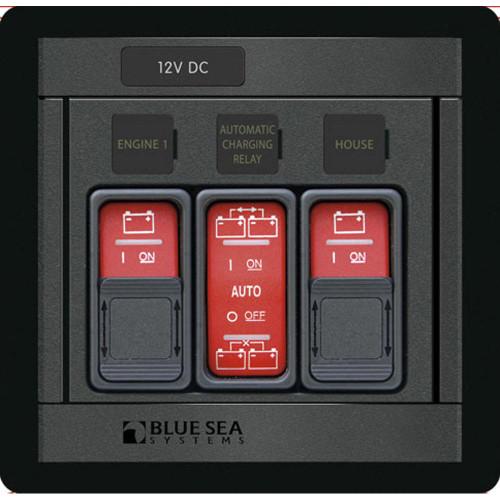 1147 - Blue Sea 1147 Remote Control Panel w/(2)2145 & (1)2146 Remote Control Contura Switch