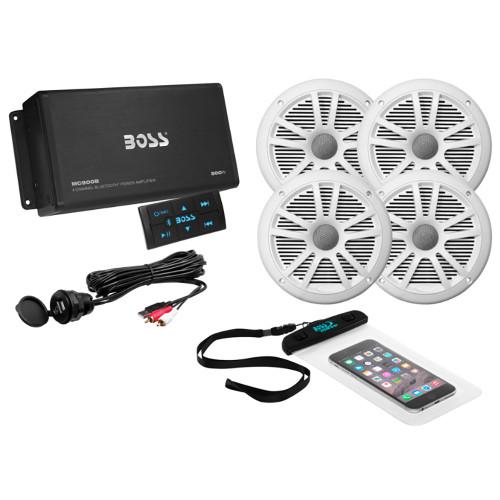 ASK904B.64 - Boss Audio ASK904B.64 4-Channel Bluetooth Amplifier w/4 Speakers
