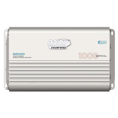 MR1000 - Boss Audio MR1000 Marine Power Amplifier 4-Channel MOSFET Bridgeable