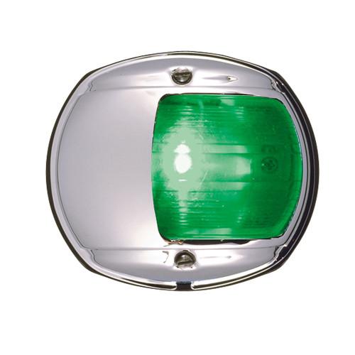 0170MSDDP3 - Perko LED Side Light - Green - 12V - Chrome Plated Housing