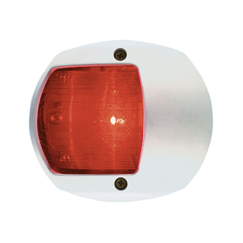 0170WP0DP3 - Perko LED Side Light - Red - 12V - White Plastic Housing