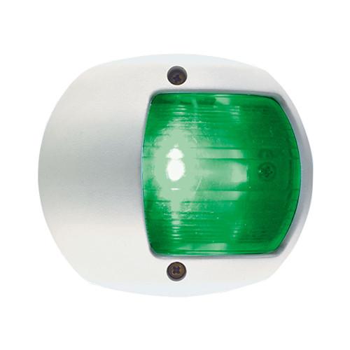 0170WSDDP3 - Perko LED Side Light - Green - 12V - White Plastic Housing