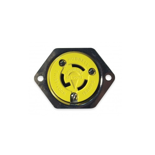 HBL47CM15 - Hubbell HBL47CM15 15A 125V Locking Flanged Outlet