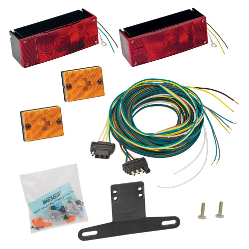"007509 - Wesbar Waterproof Over 80"" Low Profile Trailer Light Kit"