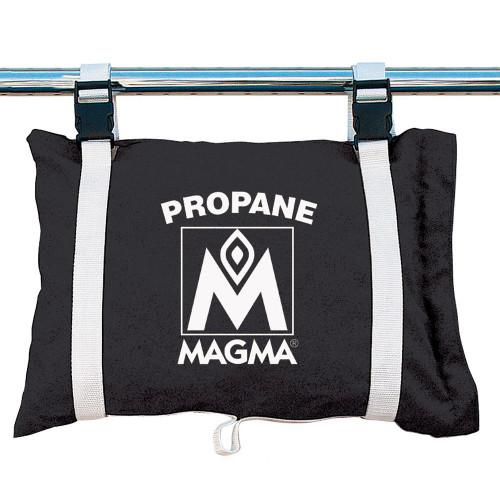 110-210JB - MagmaPropane /Butane Canister Storage Locker/Tote Bag - Jet Black