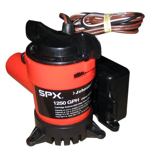 "08203-00 - Johnson Pump 1250 GPH Ultima Combo Pump 1-1/8"" Hose 12V"