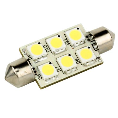 LLB-186W-21-00 - Lunasea Single-Sided 6 LED Festoon - 10-30VDC/1.5W/97 Lumens - Warm White