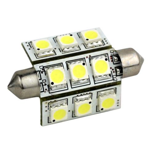 LLB-189W-21-00 - Lunasea 3-Sided 9 LED Festoon - 10-30VDC/2W/141 Lumens - Warm White
