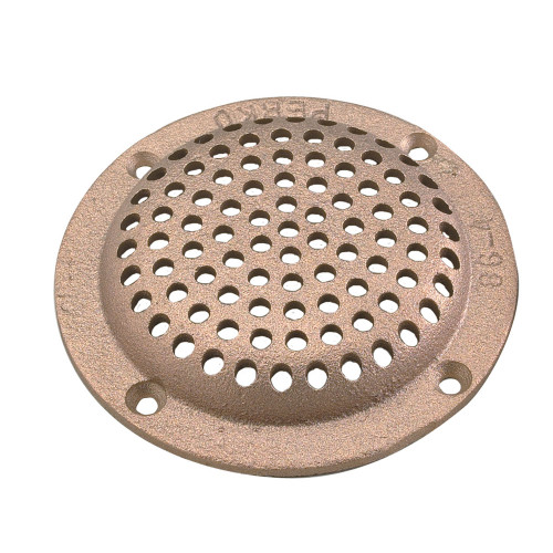 """0086DP3PLB - Perko 3-1/2"""" Round Bronze Strainer MADE IN THE USA"""