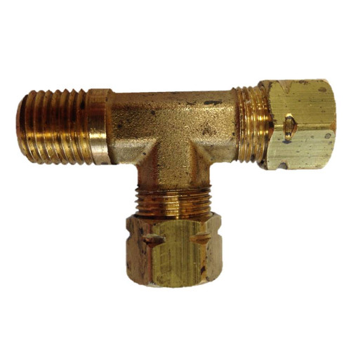 "171CA-6-4 - Uflex Male Run T-Fitting - 3/8"" x 3/8"" Tube x 1/4"" NPT"