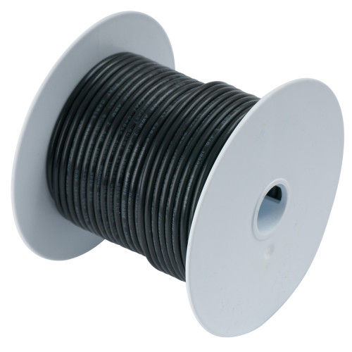 100010 - Ancor Black 18 AWG Tinned Copper Wire - 100'