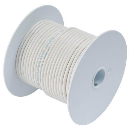 100910 - Ancor White 18 AWG Tinned Copper Wire - 100'