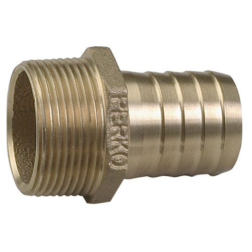 "0076DP6PLB - Perko 1"" Pipe To Hose Adapter Straight Bronze MADE IN THE USA"