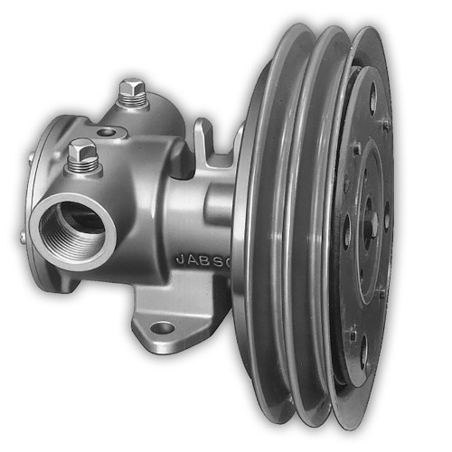 """11870-0005 - Jabsco 1-1/4"""" Electric Clutch Pump - Double A Groove Pulley - 12V"""