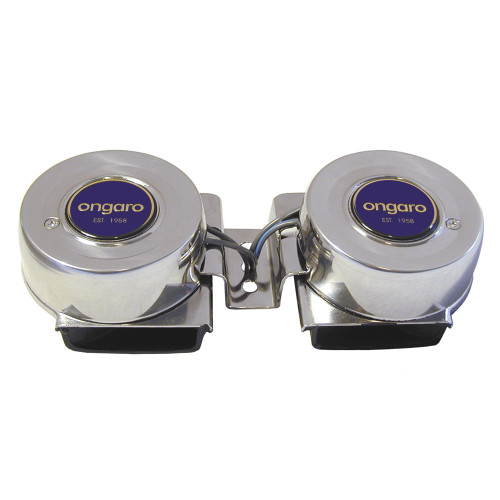 10002 - Ongaro SS Mini Compact Twin Horn - 12V