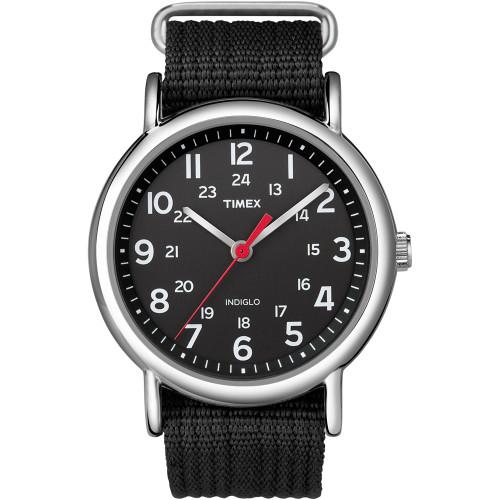 T2N647 - Timex Weekender Slip-Thru Watch - Black/Black