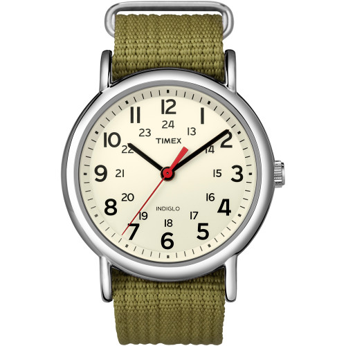 T2N651 - Timex Weekender Slip-Thru Watch - Olive Green