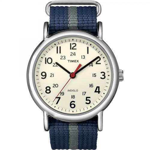 T2N654 - Timex Weekender Slip-Thru Watch - Navy/Gray