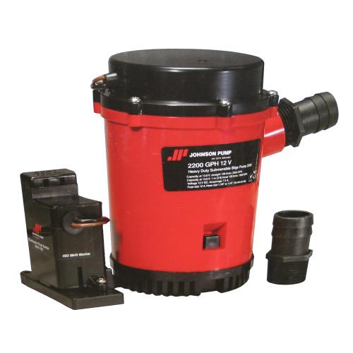02204-00 - Johnson Pump 2200GPH Auto Bilge Pump w/Mag Switch - 12V