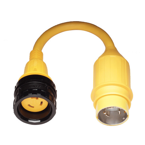 121A - Marinco Pigtail Adapter, 30A Locking to 50A Locking