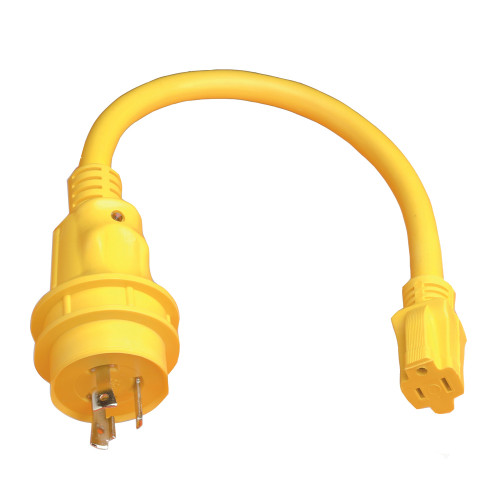 105SPP - Marinco Pigtail Adapter - 15A Female to 30A Male