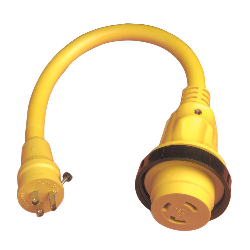 104SPP - Marinco Pigtail Adapter Plus - 30A Female To 15A Male