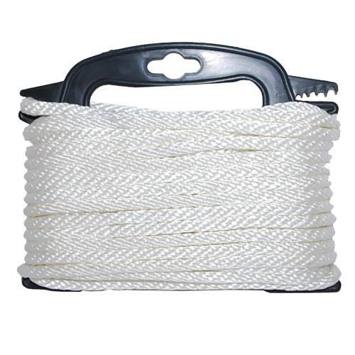 """117553-7 - Attwood Braided Nylon Rope - 3/16"""" x 100' - White"""