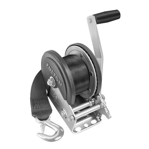 142208 - Fulton 1500lb Single Speed Winch w/20' Strap  Cover