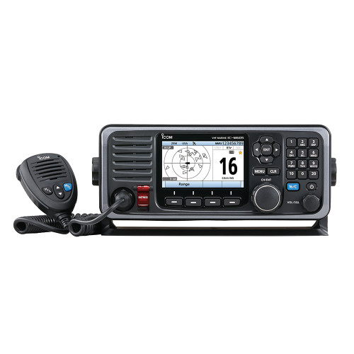 M605 11 - Icom M605 Fixed Mount 25W VHF w/Color Display & Rear Mic Connector