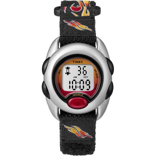 T78751XY - Timex Kid's Digital Nylon Band Watch - Flames