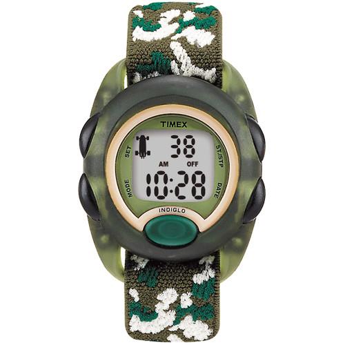 T71912XY - Timex Kid's Digital Nylon Strap Watch - Camoflauge